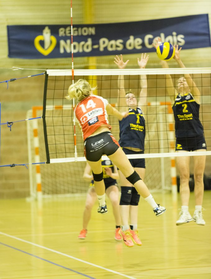 Quart de final de volley de  de la Coupe des Flandres qui opposait Valenciennes à Bailleul le 11 mai 2016.